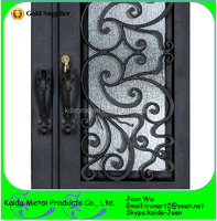 Beautiful Painted Wrought Iron Grilles Design For Front Door