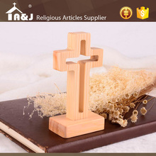Customized design luminated easter standing wooden crosses