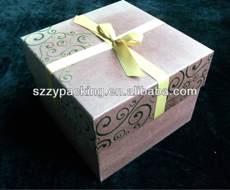 square hot stamping pattern rich cake box