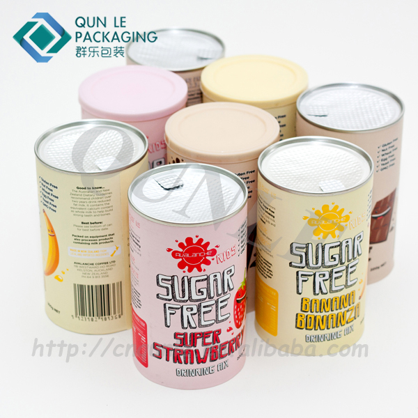 Environmental Tube Packaging Composite Paper Cans for Drink Powder Manufacturer