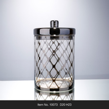 Hot selling mercury glass candy jar with lid for home decoration Europen style