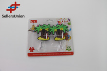 No.1 yiwu exporting commission agent wanted Coconut Tree Shaped Adheisve PVC Wall Hooks