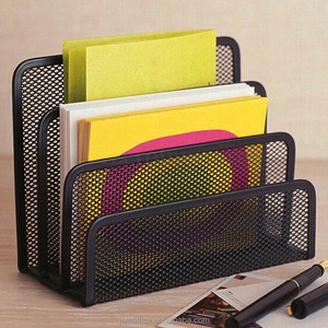 High quality Office Metal Mesh 3 Tier Section Mail Document File Organizer Letter Sorter