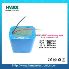 lithium ion battery 18650 12V rechargeable for Energy Storage