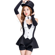 Womens Sexy Black Servant French Maid Costumes For Halloween