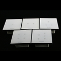 White tempered glass 1/2/3/4/5 gang touch light switch
