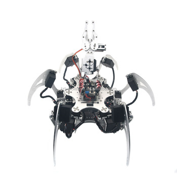 Hot sell Aluminium Hexapod Robotics Spider Six 6DOF Biped Robot Frame Kit with Clamper Gripper