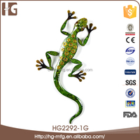Animal model items home decoration metal wall sculpture of frog 33x22x4CMH