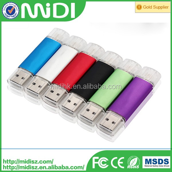 Special metal 128gb OTG 3.0 usb flash drive for mobile phone