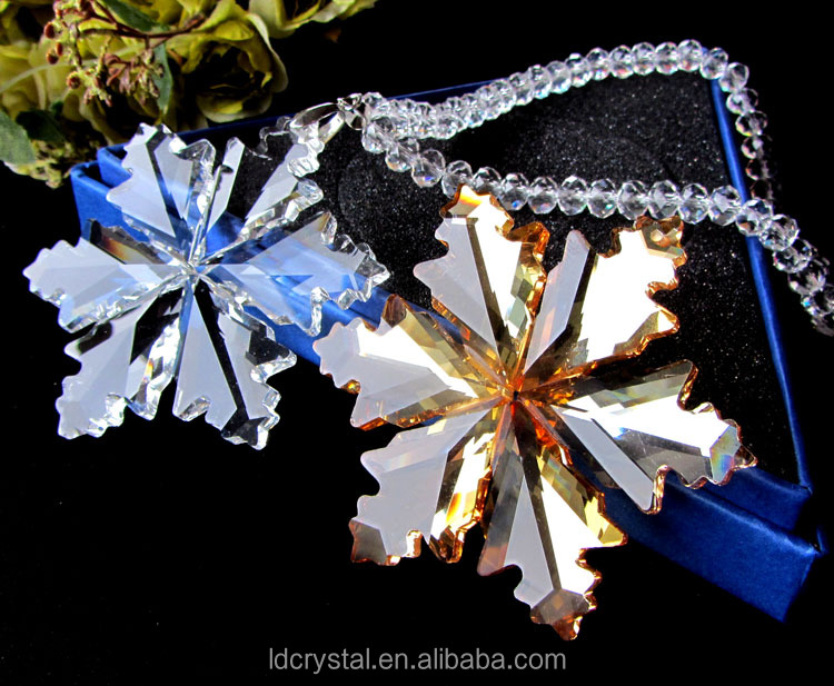 Christmas snowflake pendant/Celebration decoration crystal pandents