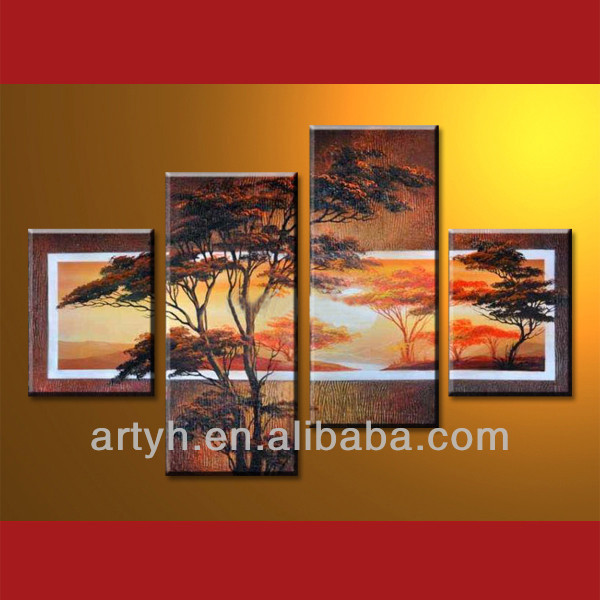 Modern Wholesale Beautiful Scenery Oil Painting On Canvas