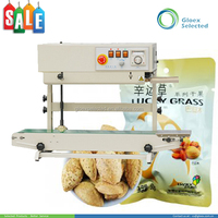 CE approved vertical continuous band bag heat sealing machine with date printer
