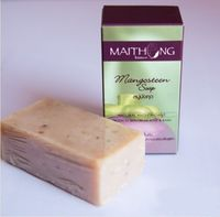 MaiThong Mangosteen Herbal Soap Bar Reduce acne 100g free ship thai Herbal acne