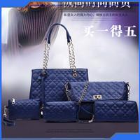 2016 Summer New Design Sling Tote Bag Lady Fashion Handbag Set 5 pcs One Set Shoulder Bag Purse Handbag Bag Factory