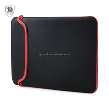"15.6"" Reversible Laptop Neoprene Sleeve Bag Pouch Case for 7"" 8"" 9"" 10"" 11"" 12"" 13"" 14"" 15"" 17"" inch Black/Red"