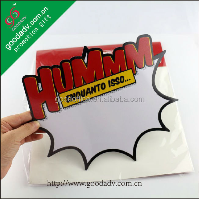 2015 New promotional rubber magnetic Material magnetic dry wipe whiteboard