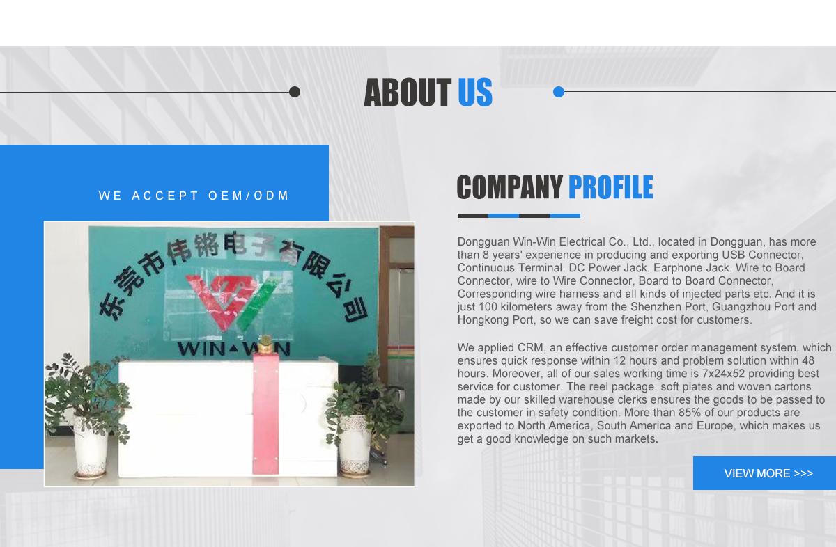Dongguan Win Electrical Co Ltd Usb Connector Dc Power Jack Wiring 1