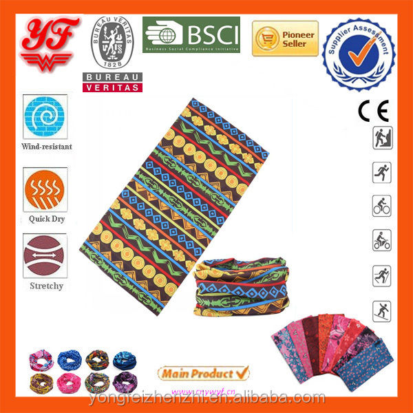 New elegant lady design printed on seamless tube headwear scarf bandanas