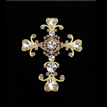 costume jewelry fashion crystal brooches for baptism in bulk