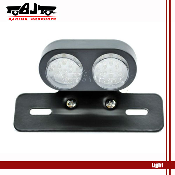 Universal Skull Motorcycle LED Rear Tail Light License Plate Bracket