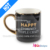 Words Pattern Black Glaze Ceramic Cup with Handle Mugs-MG01160039