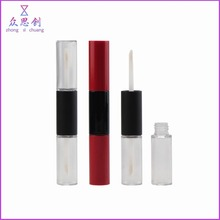 Injection blown bottle for empty cosmetics long cylinder two sides mascara bottle double ended liquid lipstick case ZM65080C