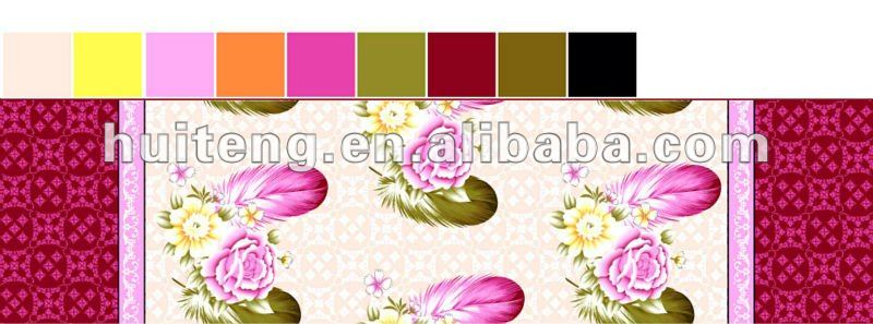 flower pattern 100% polyester fabric for curtain