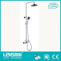 Solid brass hydro power led shower head for bathroom