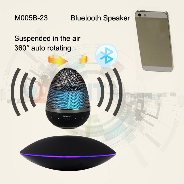 Auto Levitating Bluetooth Speaker with Subwoofer Factory New Invention Floating Spin Promotion