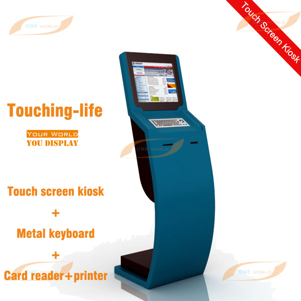 Shenzhen Manufacturer 19 inch interactive self-service kiosk with thernal printer