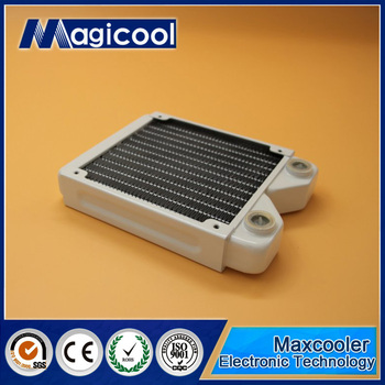 Best Quality Copper Radiator for computer 27mm thickness 120mm length and White color