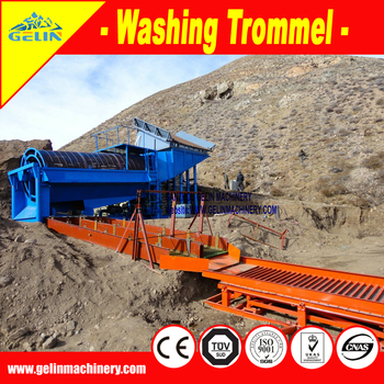 Mobile gold washing trommel