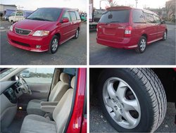 2001 Used car MAZDA MPV S SPECIAL ED/Van/RHD/56200km/Gas/Petrol/Red