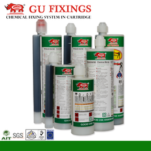 Two component silicone application gun concrete crack repair epoxy resin and hardener construction anchor adhesive