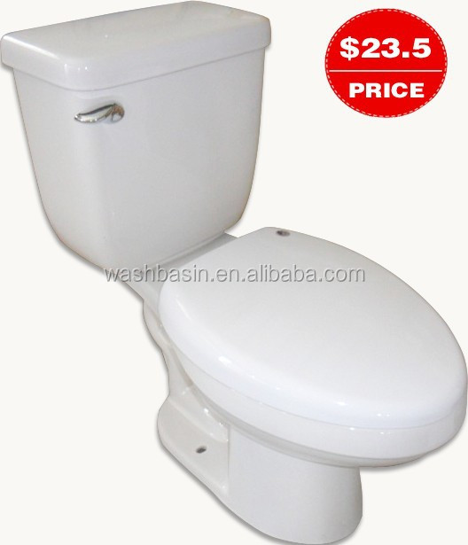 YJ9568 Bathroom Ceramics Cheap price S-trap Two pcs toilet /WC/Water closet