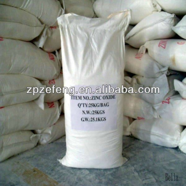 Superfine active zinc oxide used in rubber products