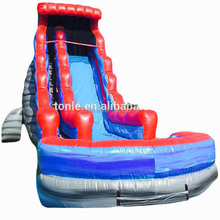 22' Blue Red Gray Rocky marble Inflatable Water Slide/Rocky River water slide with pool
