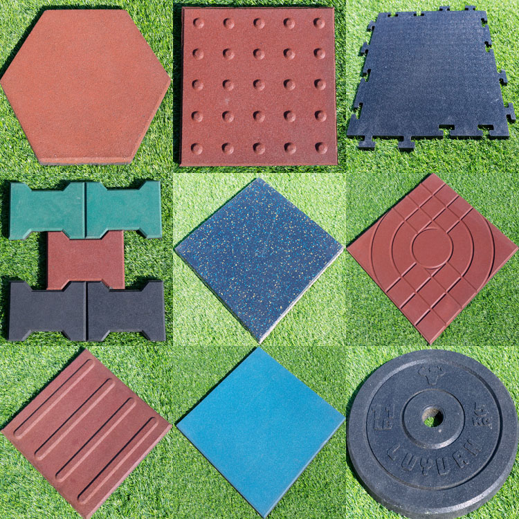 Outdoor playground rubber flooring / rubber mat high quality rubber paves for playground