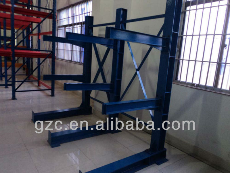 Double Side Wall Mounted Warehouse Storage Steel Cantilever rack