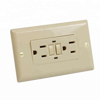 S90303 GFCI Wall Tap Receptacle 15 Amp 125 Volt Tamper Resistant and Weather Resistant Duplex with LED Indicator Light