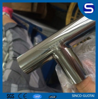 Factory price stainless steel sanitary long radius tee