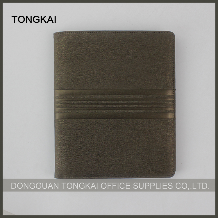 Leather Material Document Bag Type Presentation Folder