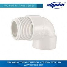 British Standard PVC Fittings Male Female Threaded Elbow