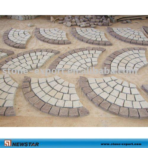 Fan forma granito adoquines de calzada piedra de for Adoquines de granito