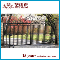italian luxury ornamental 2016 new main gate and fence wall design elegant used cheap aluminum gate school home garden