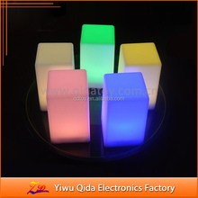 bar decoration color changing square led candle