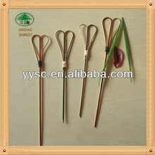 Heart shape knotted bamboo skewers