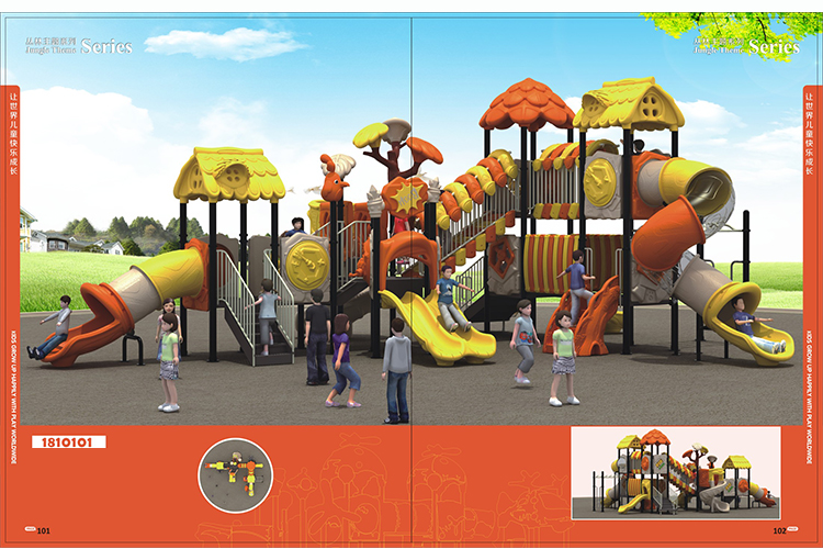 High quality Children's Playground with big slide -School or residential