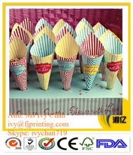 popular party used French fries paper cone crepe packaging popcorn packaging