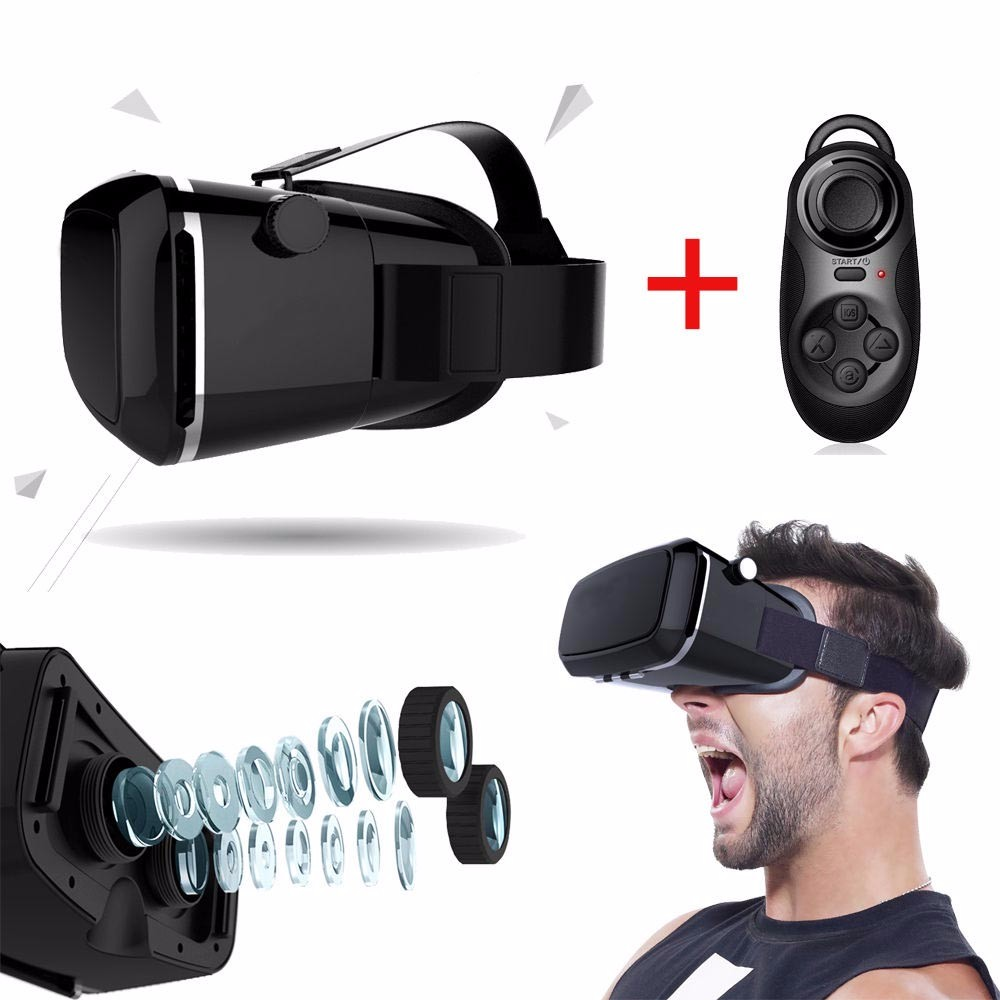Best selling of Virtual Realty VR Glasses with HEADPHONE 3D immersive